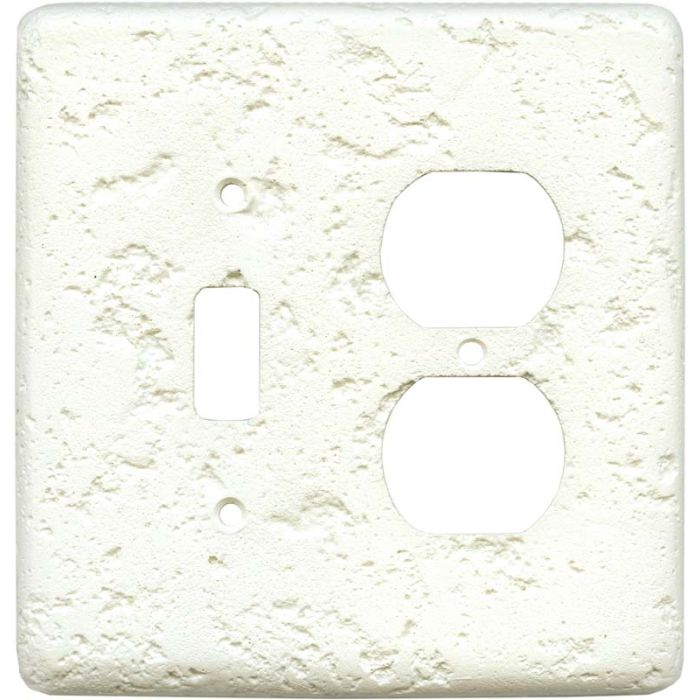 Stonique Biscuit Combination 1 Toggle / Outlet Cover Plates