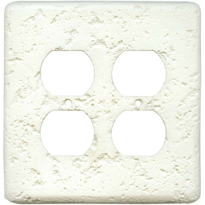 Stonique Biscuit 2 Gang Duplex Outlet Wall Plate Cover