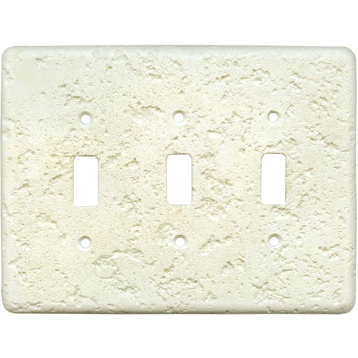 Stonique Biscuit Triple 3 Toggle Light Switch Covers