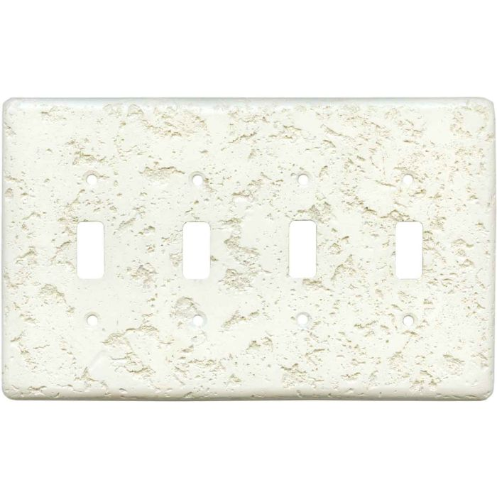 Stonique Biscuit Quad 4 Toggle Light Switch Covers