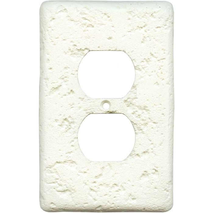 Stonique Biscuit 1 Gang Duplex Outlet Cover Wall Plate