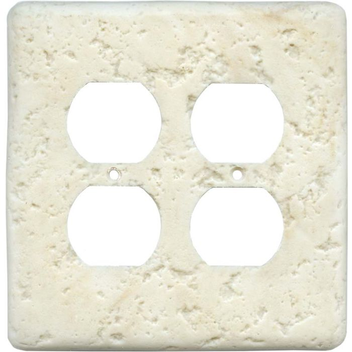 Stonique Cameo 2 Gang Duplex Outlet Wall Plate Cover