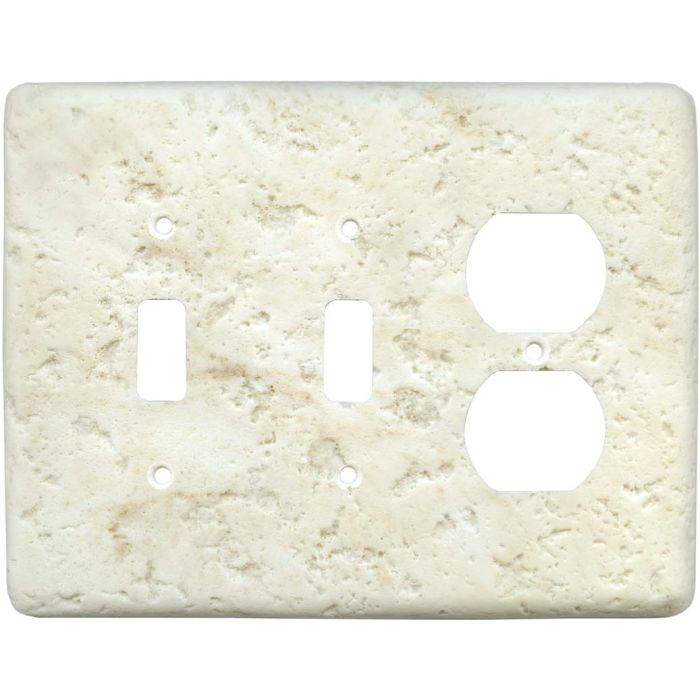 Stonique Cameo Double 2 Toggle / Outlet Combination Wall Plates