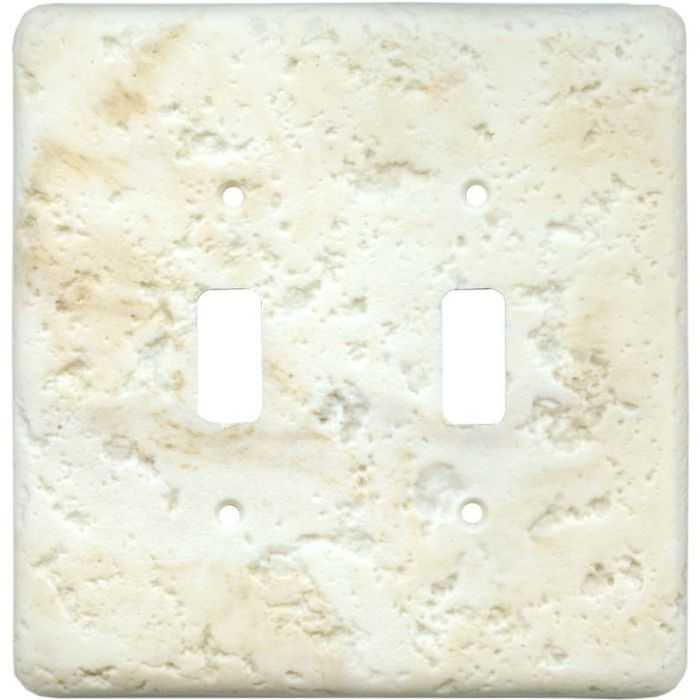 Stonique Cameo Double 2 Toggle Switch Plate Covers