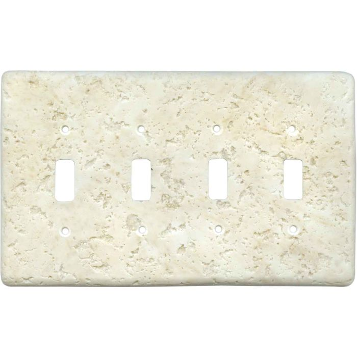 Stonique Cameo Quad 4 Toggle Light Switch Covers