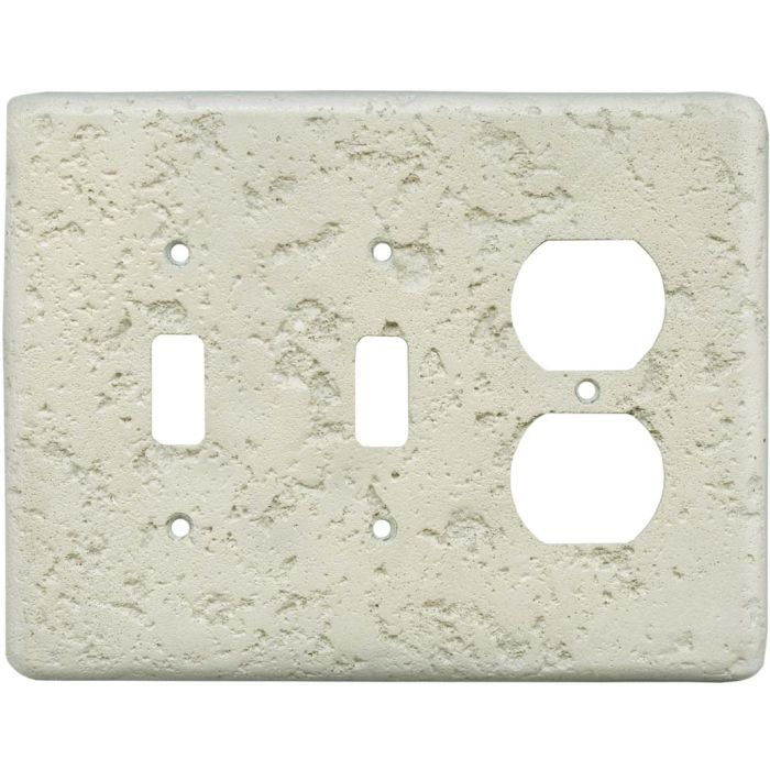 Stonique Cappuccino Double 2 Toggle / Outlet Combination Wall Plates