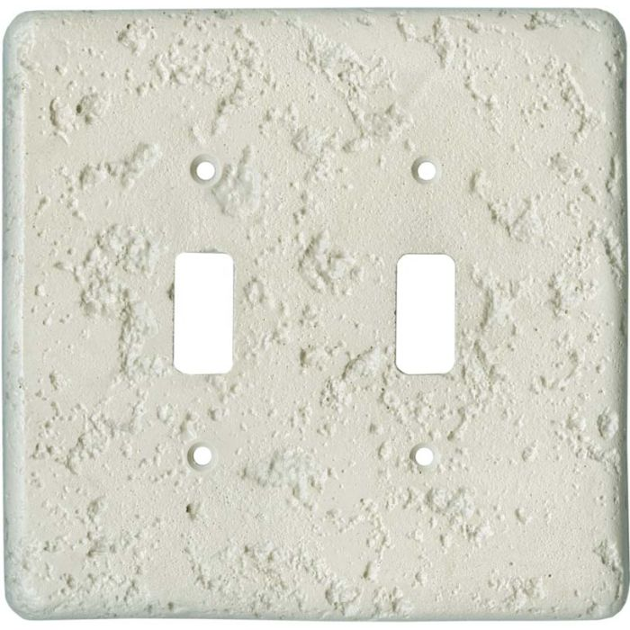 Stonique Cappuccino Double 2 Toggle Switch Plate Covers