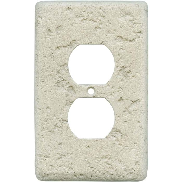 Stonique Cappuccino 1 Gang Duplex Outlet Cover Wall Plate