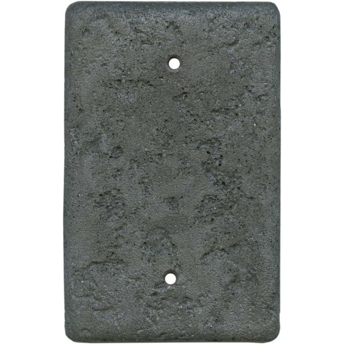 Stonique Charcoal1 Gang Blank Wall Plates