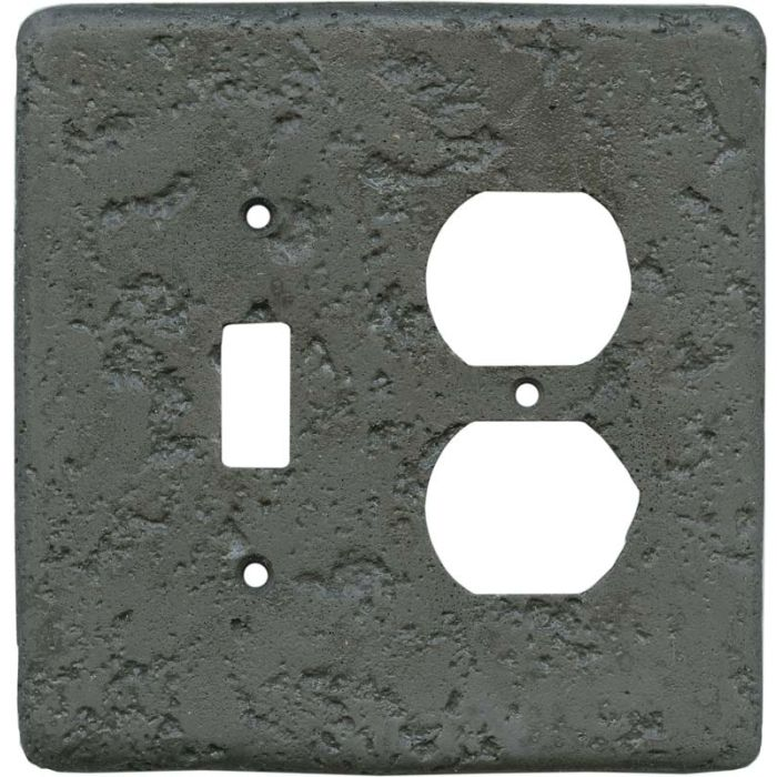 Stonique Charcoal1 Toggle Wall Switch Plate - Outlet Cover Combination