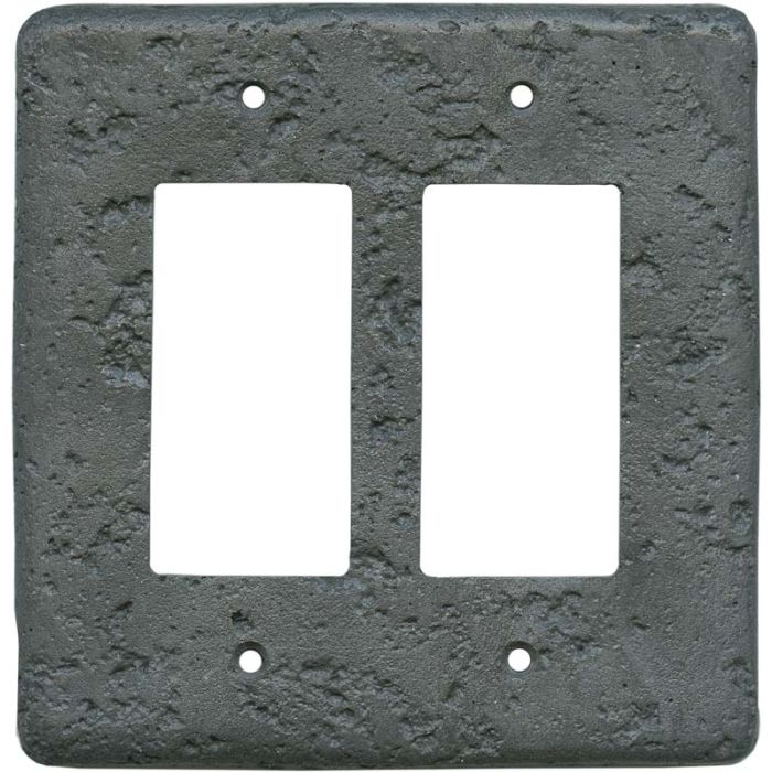 Stonique Charcoal2-Gang Decorator / GFCI Rocker Wall Plate Cover