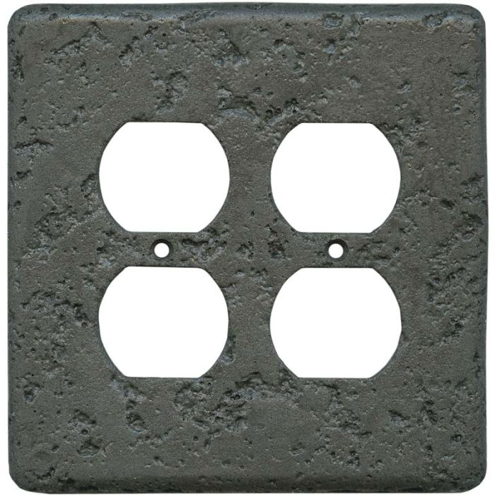 Stonique Charcoal2 Gang Duplex Outlet Wall Plate Cover