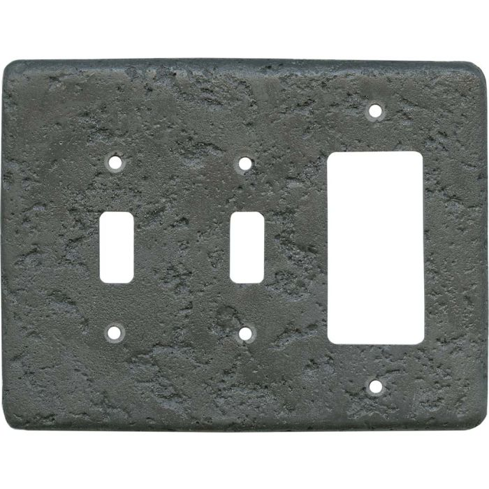 Stonique Charcoal2-Toggle / 1-GFI Rocker - Combo Switch Covers