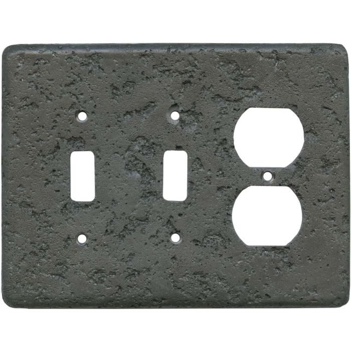 Stonique Charcoal2-Toggle / 1-Duplex Outlet - Combination Wall Plates
