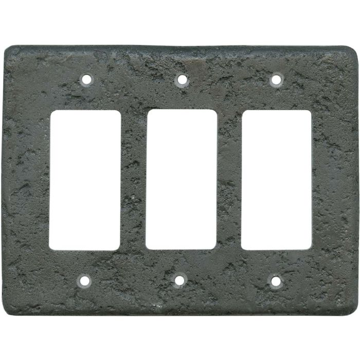Stonique Charcoal - 3 Triple GFI Rocker Decora