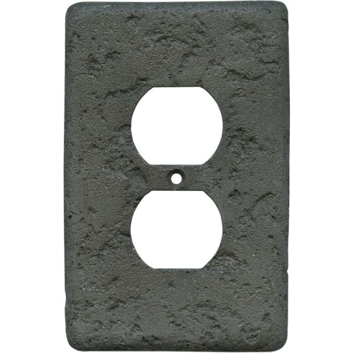 Stonique Charcoal1 - Gang Duplex Outlet Cover Wall Plate