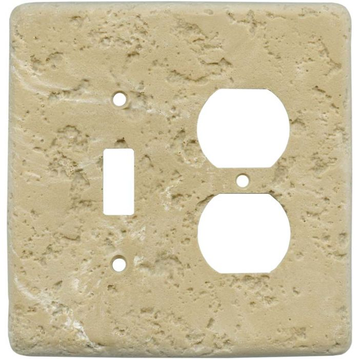 Stonique Cocoa Combination 1 Toggle / Outlet Cover Plates