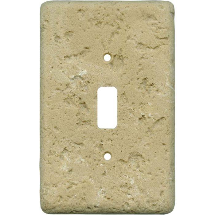 Stonique Cocoa Single 1 Toggle Light Switch Plates