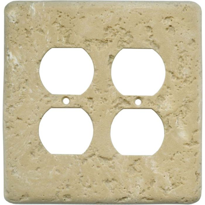 Stonique Cocoa 2 Gang Duplex Outlet Wall Plate Cover