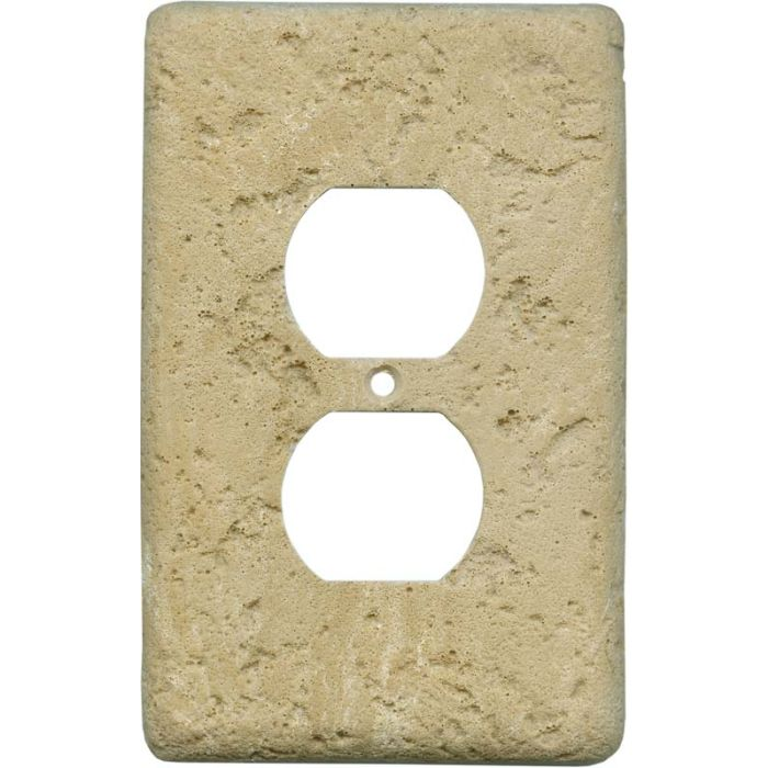 Stonique Cocoa 1 Gang Duplex Outlet Cover Wall Plate