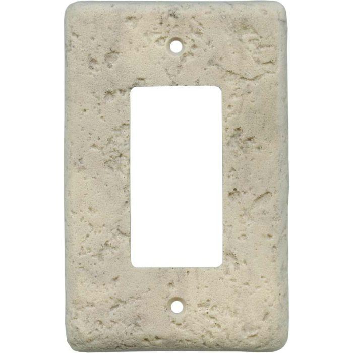 Stonique Espresso Single 1 Gang GFCI Rocker Decora Switch Plate Cover