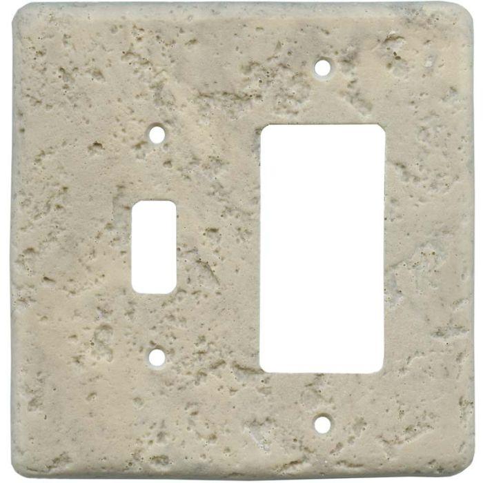 Stonique Espresso Combination 1 Toggle / Rocker GFCI Switch Covers