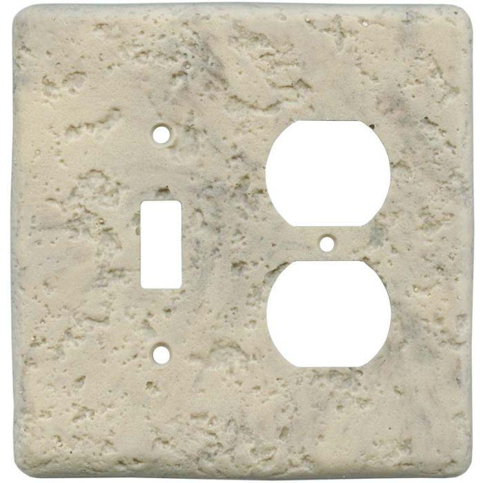 Stonique Espresso Combination 1 Toggle / Outlet Cover Plates