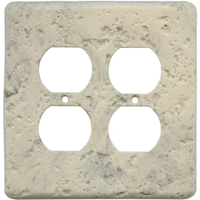 Stonique Espresso 2 Gang Duplex Outlet Wall Plate Cover