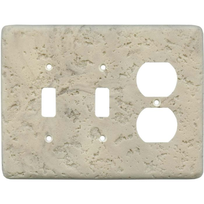 Stonique Espresso Double 2 Toggle / Outlet Combination Wall Plates