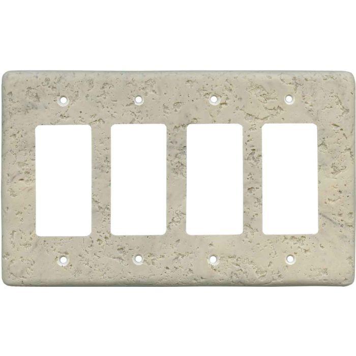 Stonique Espresso 4 Rocker GFCI Decorator Switch Plates