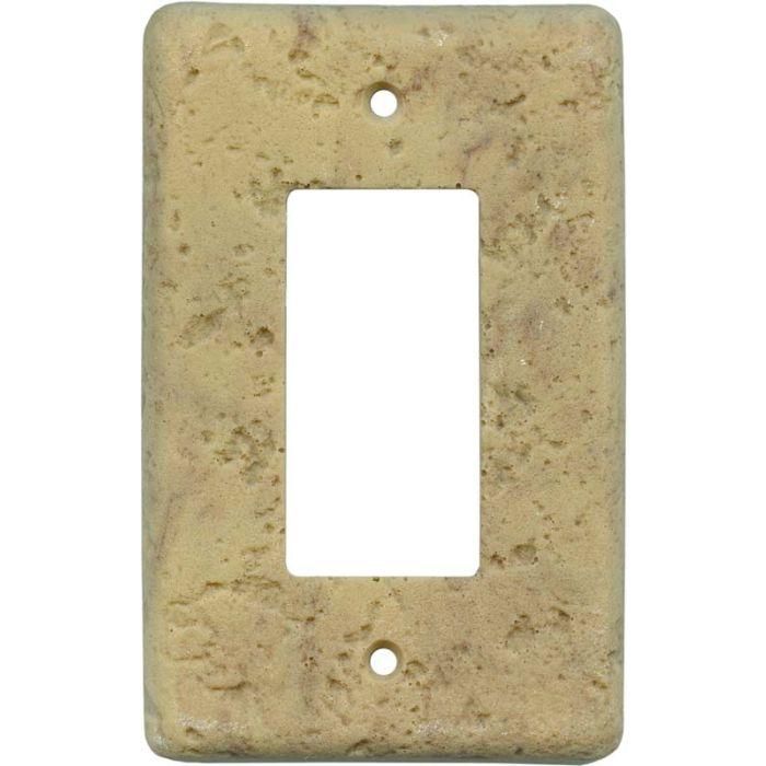 Stonique Honey Gold Single 1 Gang GFCI Rocker Decora Switch Plate Cover