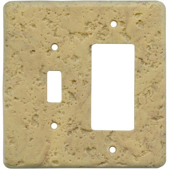 Stonique Honey Gold Combination 1 Toggle / Rocker GFCI Switch Covers