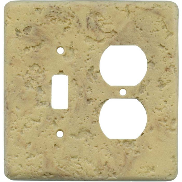 Stonique Honey Gold Combination 1 Toggle / Outlet Cover Plates