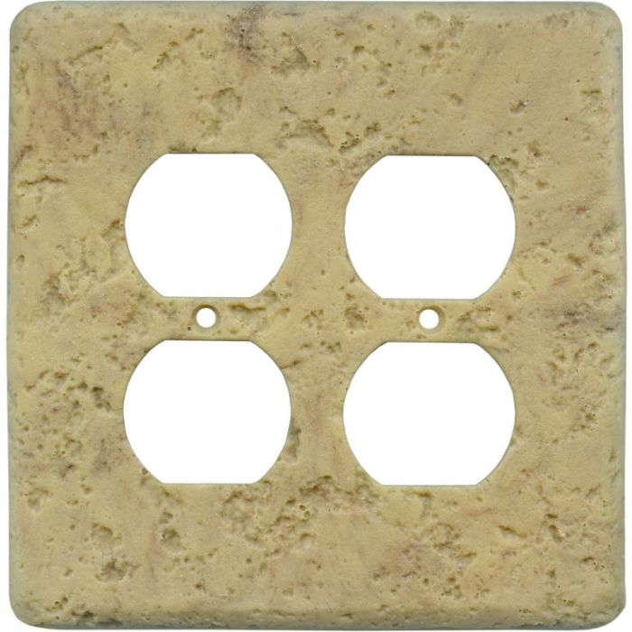 Stonique Honey Gold 2 Gang Duplex Outlet Wall Plate Cover