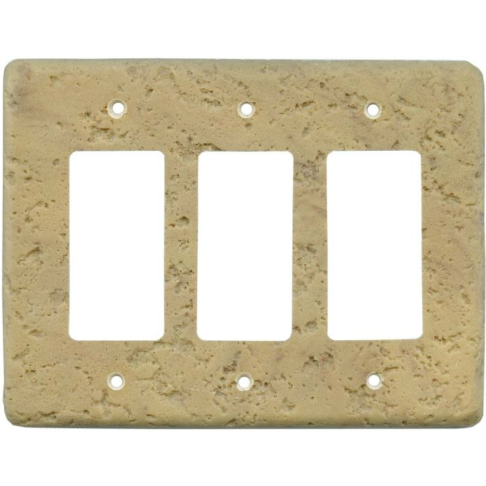 Stonique Honey Gold Triple 3 Rocker GFCI Decora Light Switch Covers