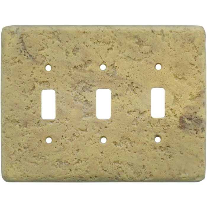 Stonique Honey Gold Triple 3 Toggle Light Switch Covers