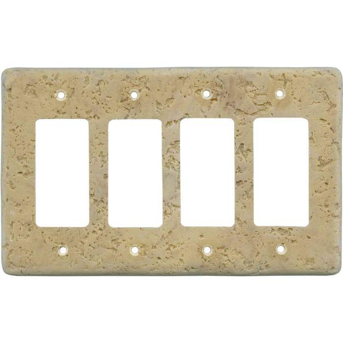 Stonique Honey Gold 4 Rocker GFCI Decorator Switch Plates