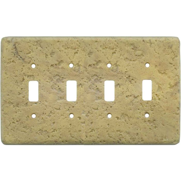 Stonique Honey Gold Quad 4 Toggle Light Switch Covers