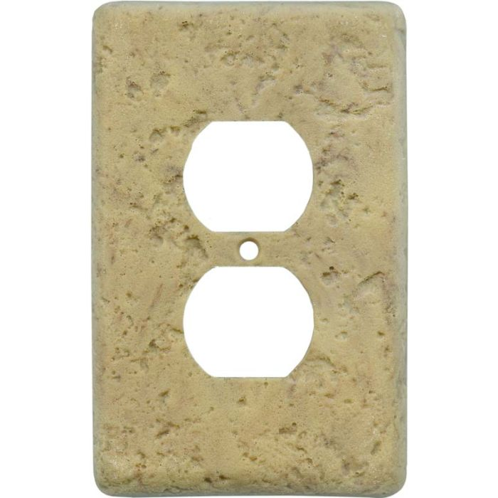 Stonique Honey Gold 1 Gang Duplex Outlet Cover Wall Plate