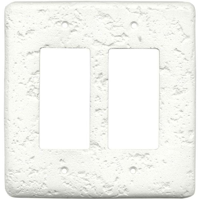 Stonique Linen 2 Gang Double GFCI Rocker Decorator Wallplates