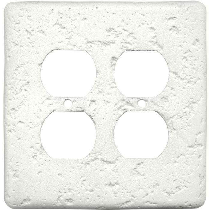 Stonique Linen 2 Gang Duplex Outlet Wall Plate Cover