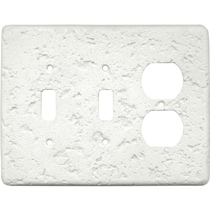 Stonique Linen Double 2 Toggle / Outlet Combination Wall Plates