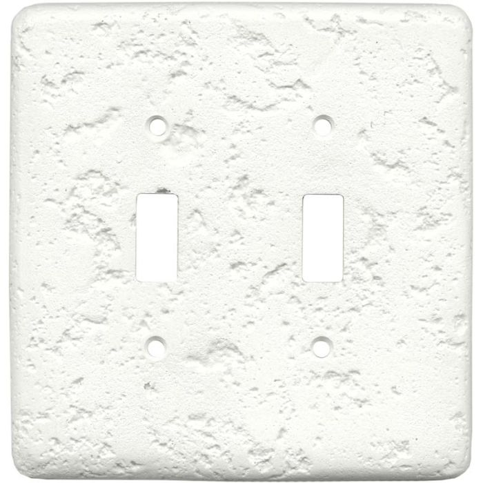 Stonique Linen Double 2 Toggle Switch Plate Covers