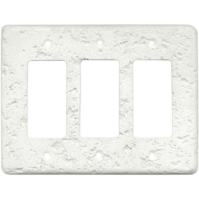 Stonique Linen Triple 3 Rocker GFCI Decora Light Switch Covers