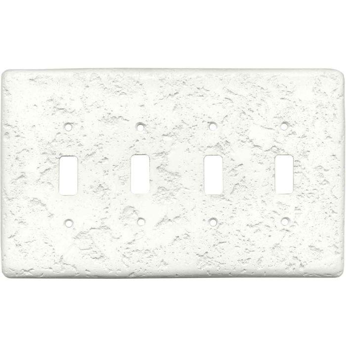 Stonique Linen Quad 4 Toggle Light Switch Covers