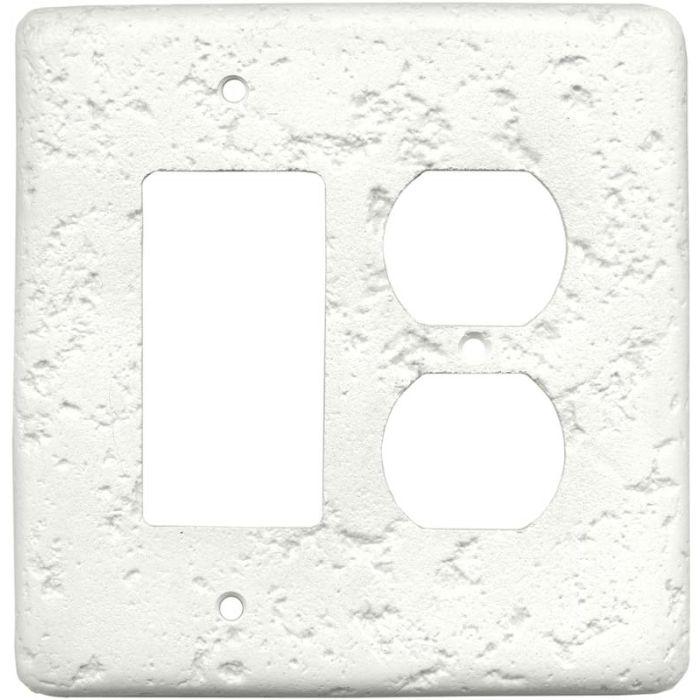 Stonique Linen Combination GFCI Rocker / Duplex Outlet Wall Plates