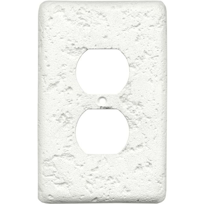 Stonique Linen 1 Gang Duplex Outlet Cover Wall Plate