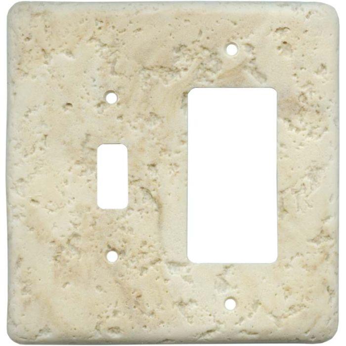 Stonique Mocha Combination 1 Toggle / Rocker GFCI Switch Covers