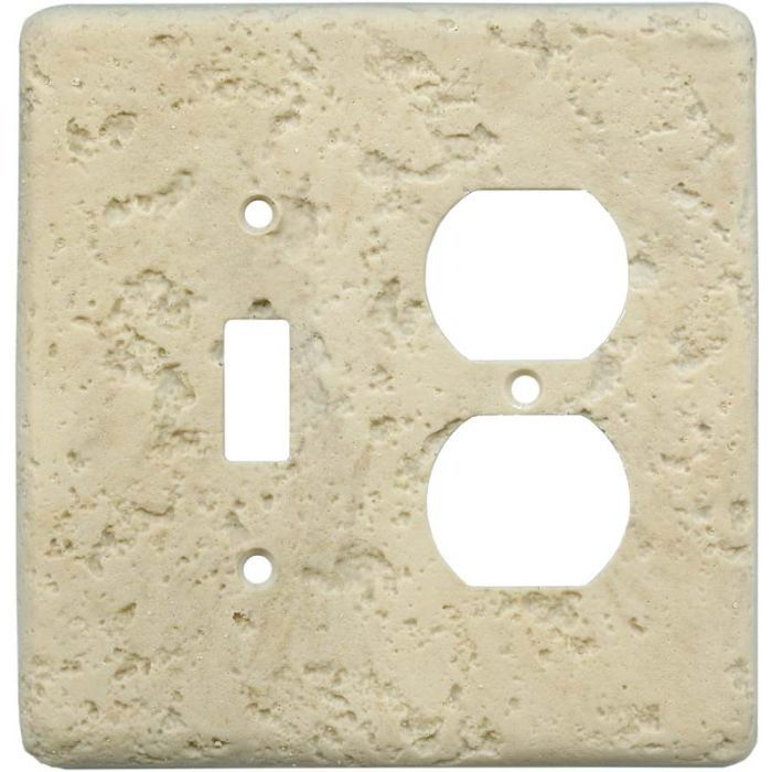 Stonique Mocha Combination 1 Toggle / Outlet Cover Plates