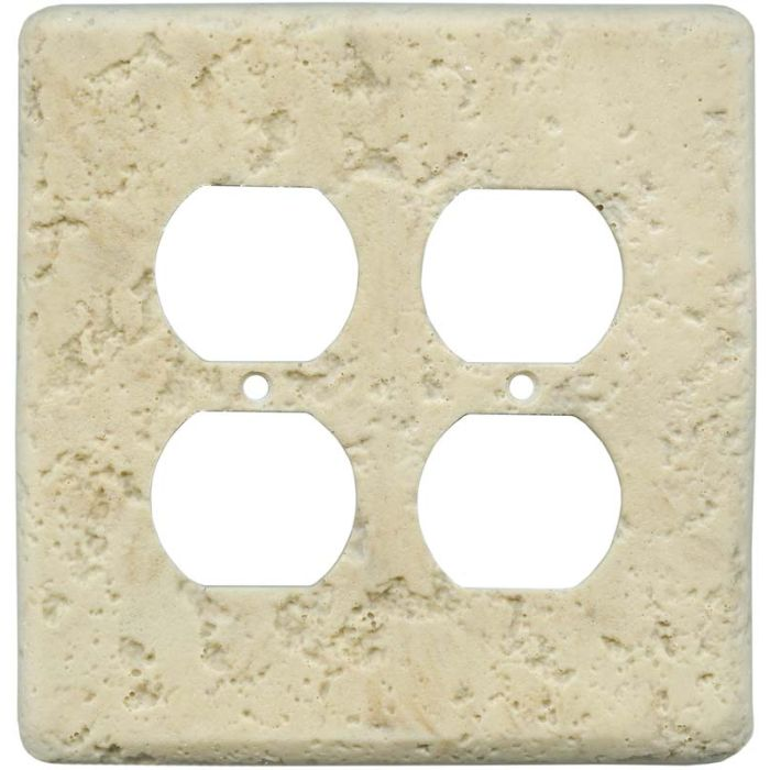 Stonique Mocha 2 Gang Duplex Outlet Wall Plate Cover